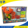 Interesting colorful bathing playset toy with window box