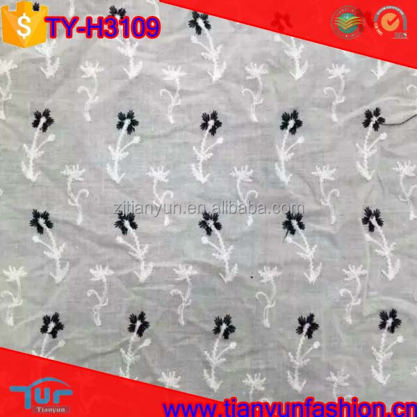 new arrived white hundred swiss embroidery cotton voile lace fabric