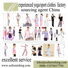 Chinese buying agency professional YOGA sport cloth produce factory sourcing agent looking for customize factory alibaba