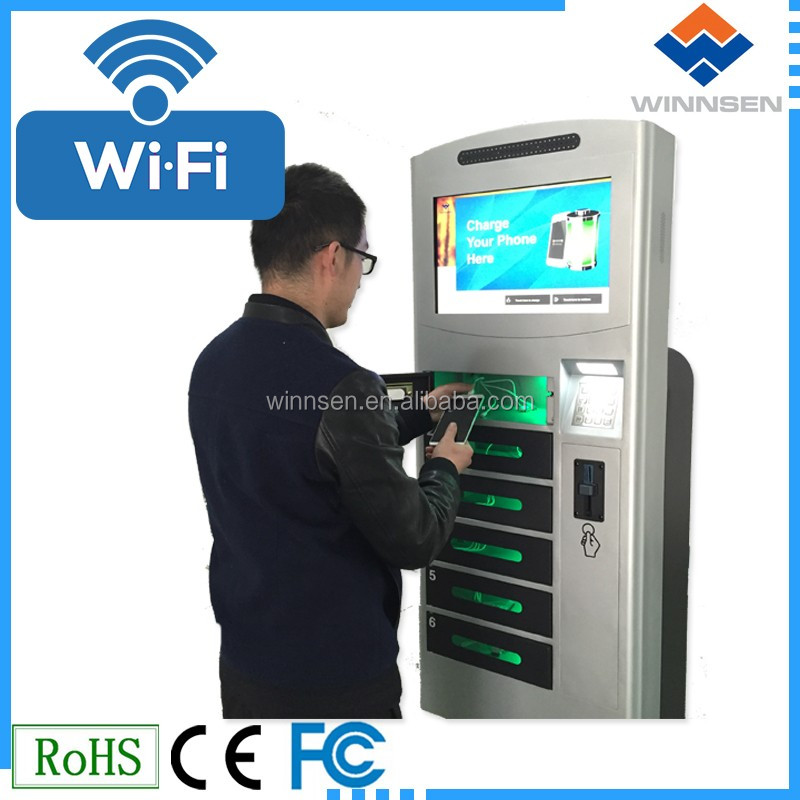 Wifi Access Solar powered mobile phone charger vending machine APC-06B