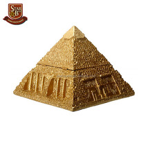 Wholesale egyptian pyramid box for decoration resin unique pyramid statues