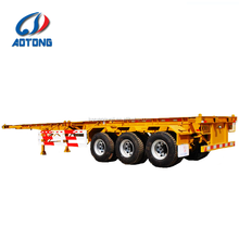 China low price high bed frame 40ft truck trailer chassis,3 axles 40feet container trailer for sale