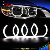 DTM Style Xenon White Square LED Angel Eyes Halo Rings Lighting Kit For BMW F30 3 Series Halogen Headlights Retrofit