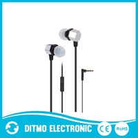 Metal earphone headphones for smart phone