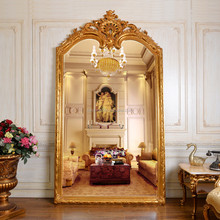 PU284 European Style Antique Living Room Luxurious Big Decorative Dressing Mirror