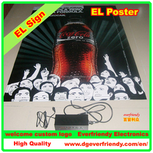 EL Advertisement Sheet Luminous Panel for Drink Promotion