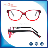 2016 kids acetate eyeglasses frame full rim fashionable design