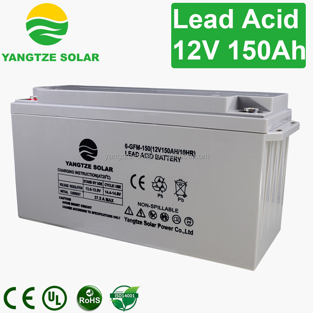 clean 12v 150ah lead acid battery container