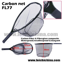 fly fishing rubber landing net carbon fiber net