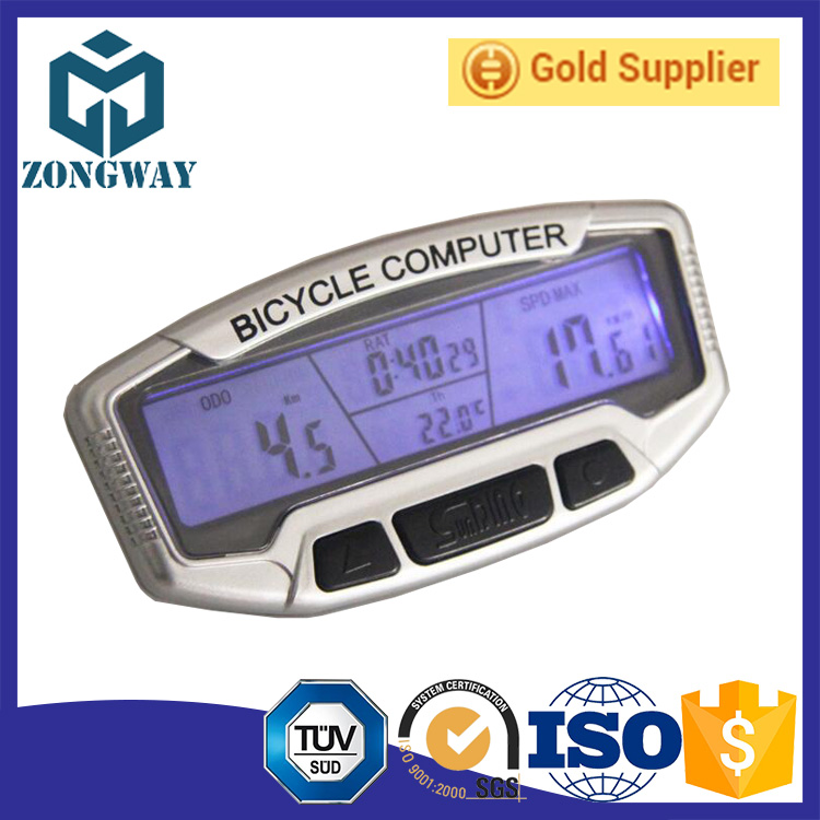 Mountain bike cycling speed meter waterproof LCD backlight Wireless bicycle computer