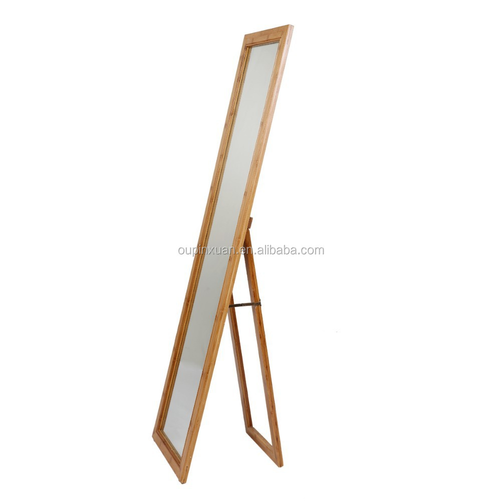 Eco-friendly Dressing Mirror With Bamboo Stand