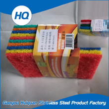 Abrasive kitchen ware dish cleaning tools sand sponge scouring pad