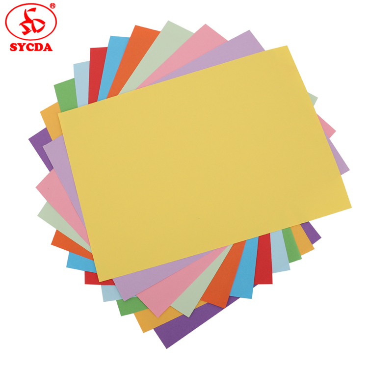 New!!! 2017 high quality woodfree A4 color printing wood free coloful offset paper made in China