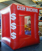 2016 best selling inflatable cash cube inflatable money booth in stock