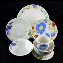 Pakistan ceramic porcelain soup plate, plate serving dishes with silver line/dishwasher safe deep plate