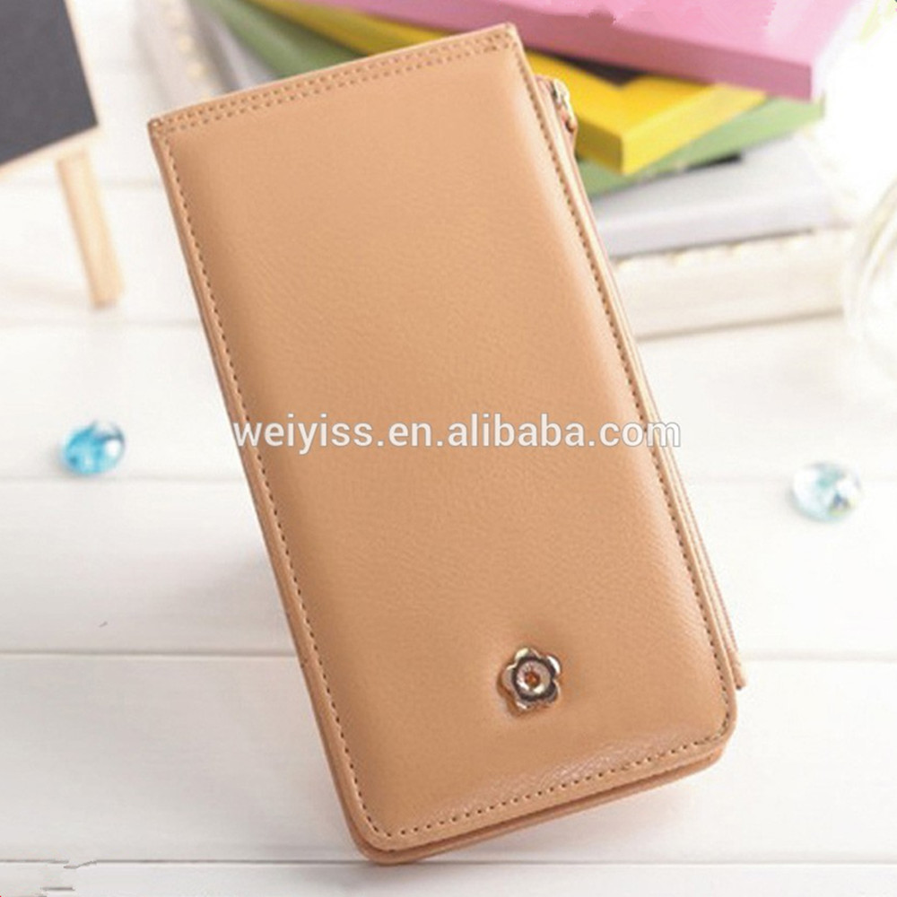 2017 Hotsale Fashional Candy Color Soft Leather Business Credit Card Holder, Leather Pocket Card Case