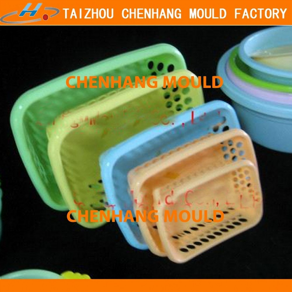 2016 Rectangular black color mini fryer basket mold for Fish farm