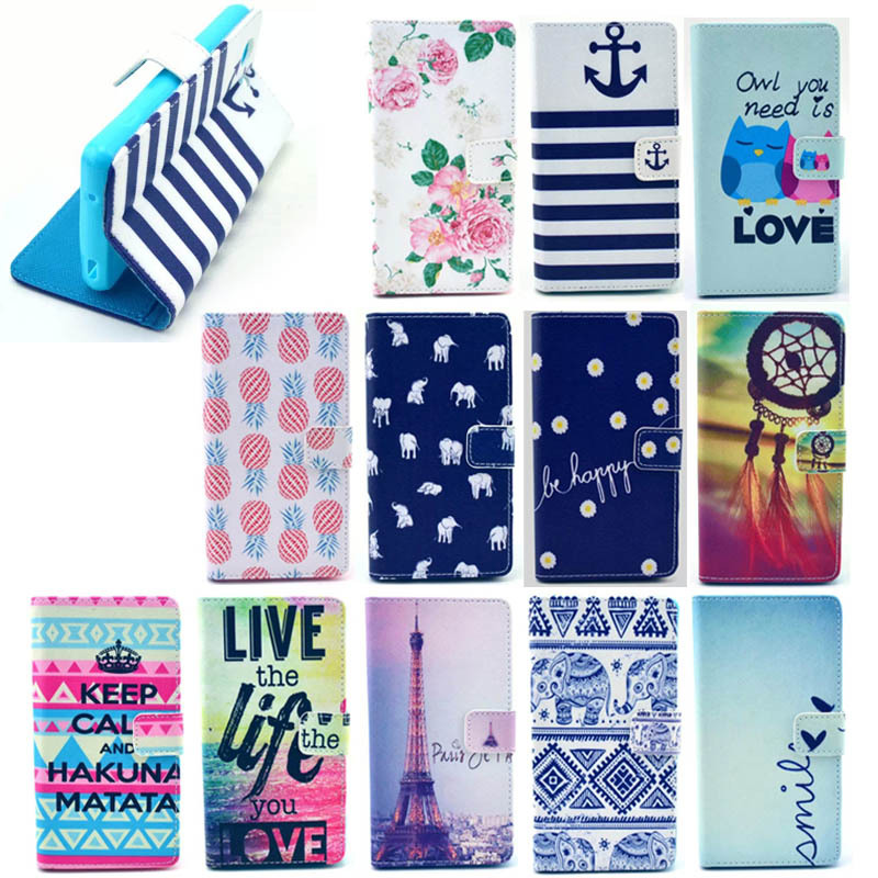 Factory Price Cute Smart Flip Leather Cover Case For Sony Xperia Z3 Mini With Card Slots