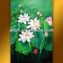 Beautiful flowers famous paintings hands for home decor