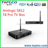 metal material external wifi T8 Pro Amlogic S812 smart tv box Quad core tv box Kodi 16.0 2.4 5Ghz wifi