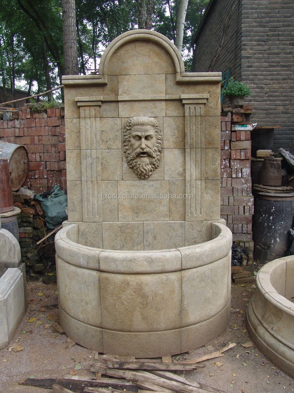 Antique Wall Water Fountain For Sale