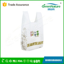 Best Cheapest printing eco-friendly 100% biodegradable plastic shopping bags with EN13432 / BPI / OK compost home / ASTM D6400
