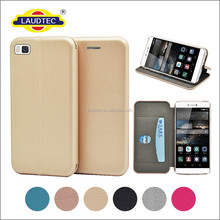 For Huawei P8 Case - Leather Wallet Case Slim Flip Folio Cover Magnetic Case Cover