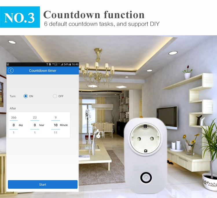 New Wifi smart socket European plug,Smart home automation Wi-Fi smart socket
