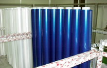 South Korea Hot saled LLDPE blue stretch film/ colored stretch film