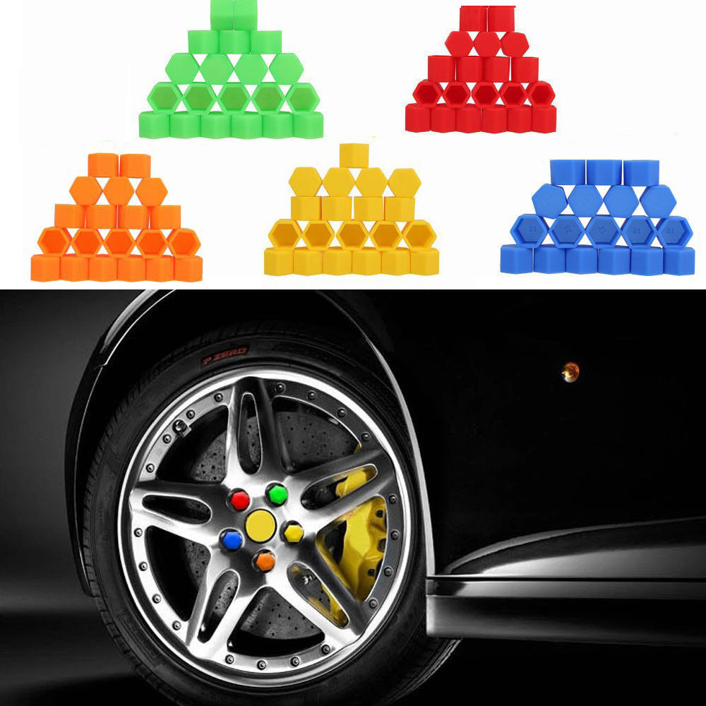 20Pc Silicone Car Wheel Nut Lug Hub Covers Screw Dust Protective Caps #19 <strong>Orange</strong>