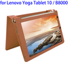 Litchi Texture Magnetic Flip Stand Leather Case for Lenovo Yoga Tablet 10