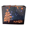 Wholesale Christmas paper gift bag with music and led lights