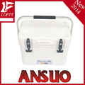 Plastic beverage cooler box with handle 15L