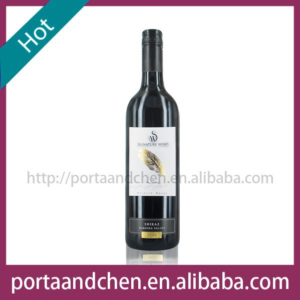Special Table Wine Australia Red wine - Reserve Barossa Valley Shiraz 2009