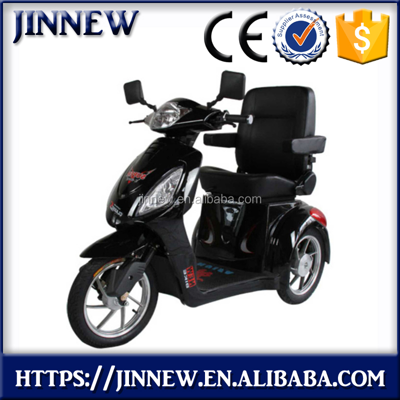 60V 500W cheap 3 wheels fashion brushless electric tricycle scooter for adults with with Hill Decent Control