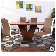 Modern popular wooden expendable 8 seater dining table set furniture