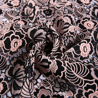 2019 New fashion embroidery chemical lace fabric