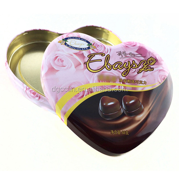 heart shaped empty sweet boxes metal gift tin box
