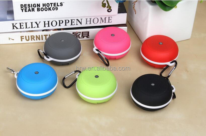 Portable Outdoor Mini Handsfree Mic Sports Hanging Music Wireless Bluetooth Speaker