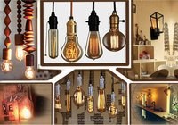 Classic retro style edison lighting bulb manufacturers decorative carbon filament lamp 25/40/60w vintage antique edison bulb