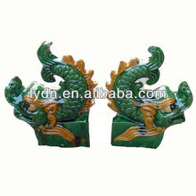 chineses ancient summit decoration glazed roofing material for sale
