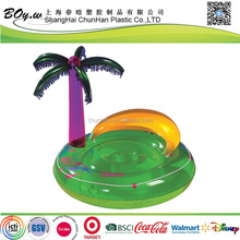 ICTI manufacturer summer relaxiation swimming mattress water play games pool giant pvc inflatable island floater