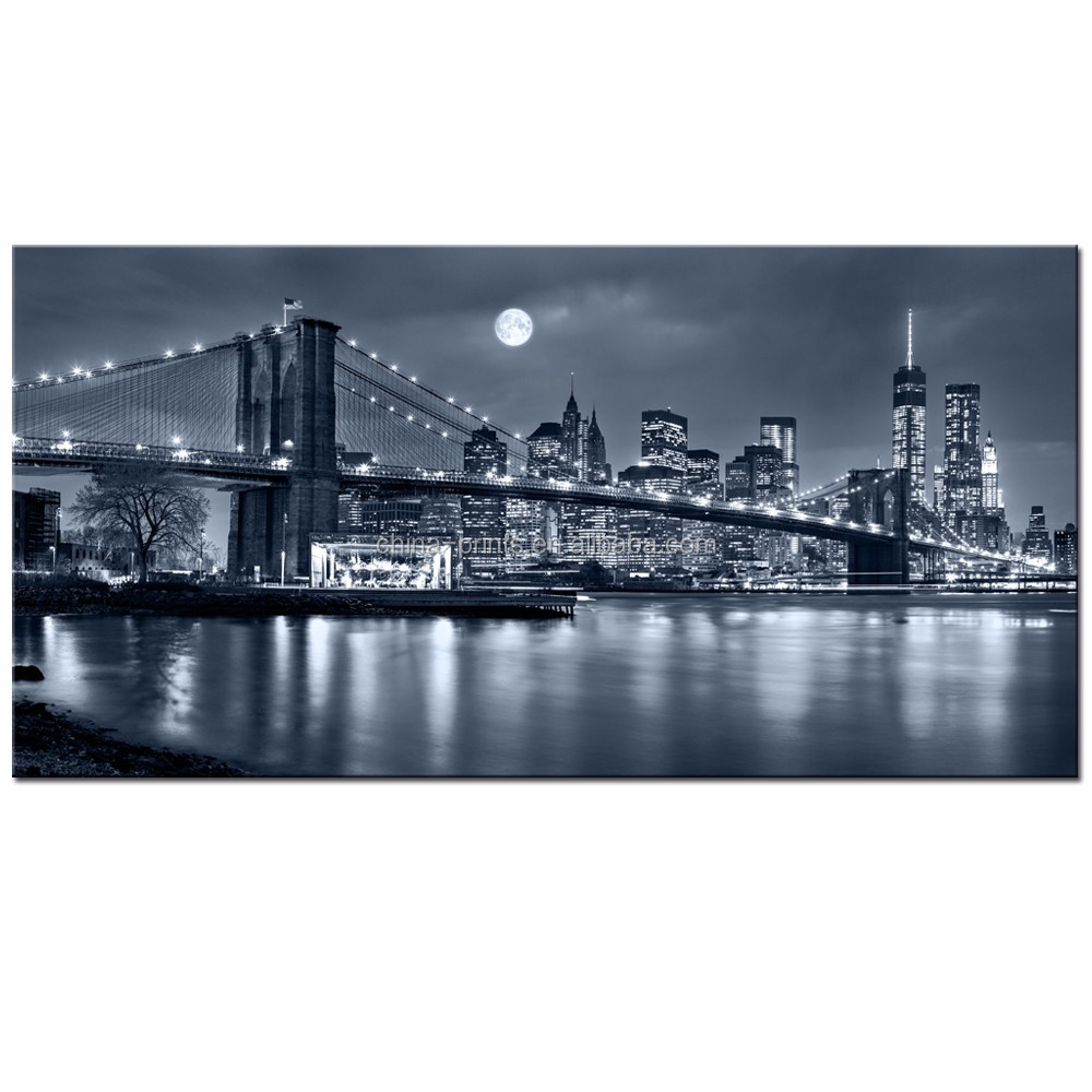 Modern wall Painting New York Brooklyn bridge Home Decorative Art Picture Paint on Canvas Prints