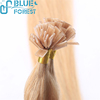 qingdao hair factory wholesale 613 color silk straight flat tip hair extension