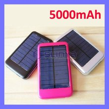 Mobile Phone 5V Output 5000mAh Solar Charger Battery For iPhone