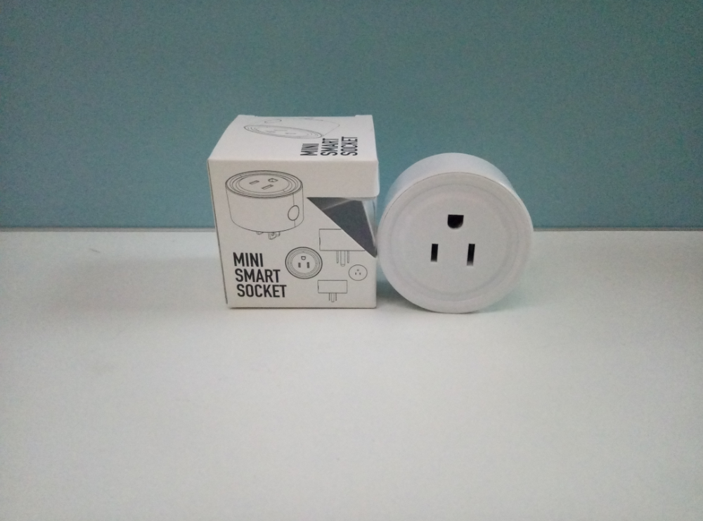 Amazon Alexa round shape US power wifi controlled smart socket smart plug