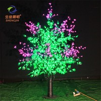 led twinkle net silver wire Lilac trees string light for outdoor use