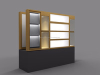 Fashion Wall recessed jewelry cabinet/jewelry accessories vertical display shelf