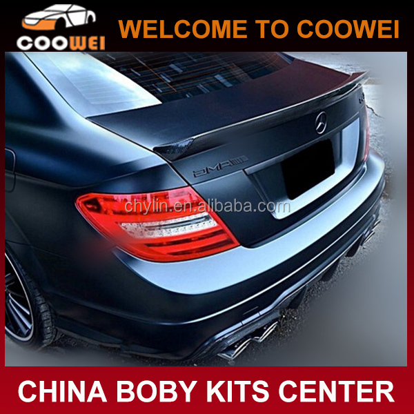V Design C-class W204 Carbon Trunk Wing for Mercedes Ben-z W204 C63 Coupe 2D 2010up