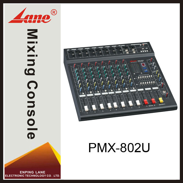Lane PMX-802U professional MP3 player dj audio mixer
